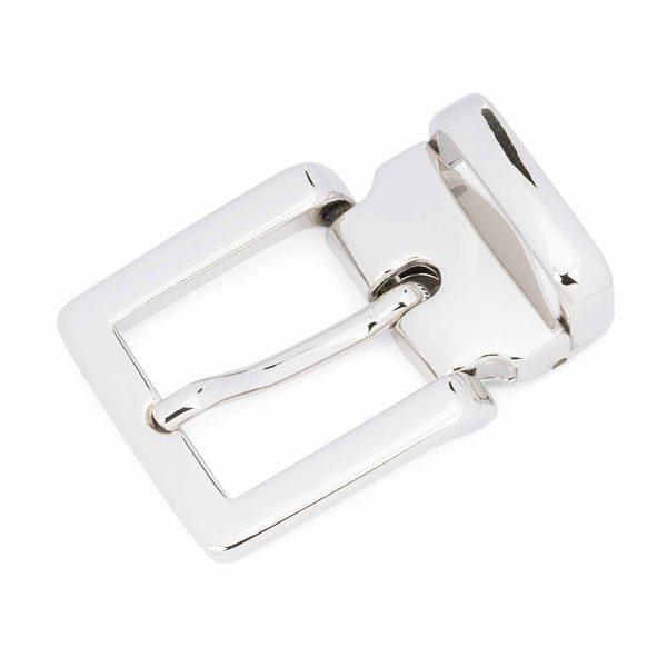 Italian-1-inch-Belt-Buckle-Square-Nickel-Clamp-on-Top-quality