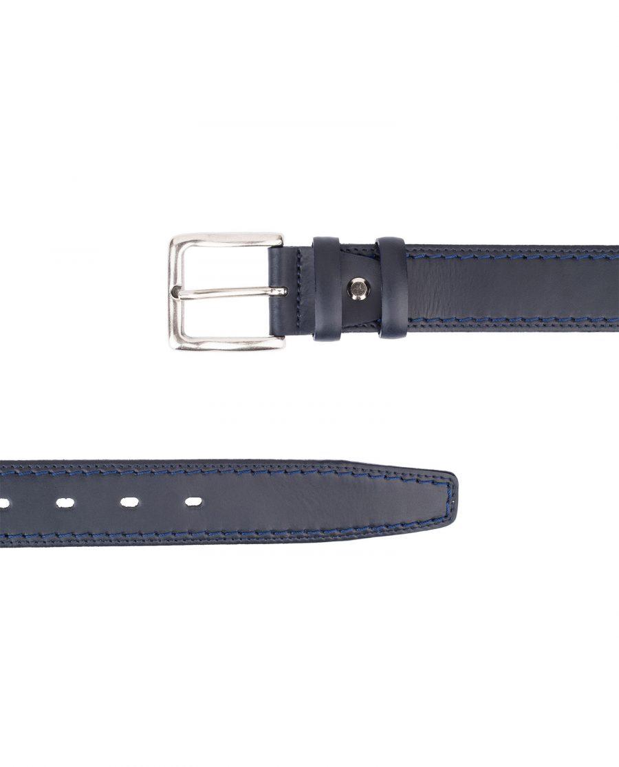 Italian-Blue-Leather-Belt-Threaded-Both-Sides