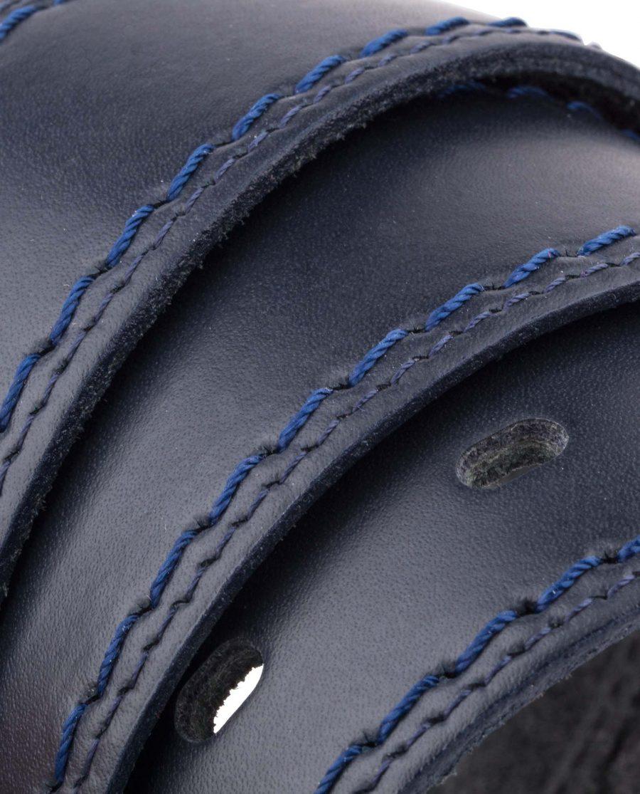 Italian-Blue-Leather-Belt-Threaded-Rolled-Version