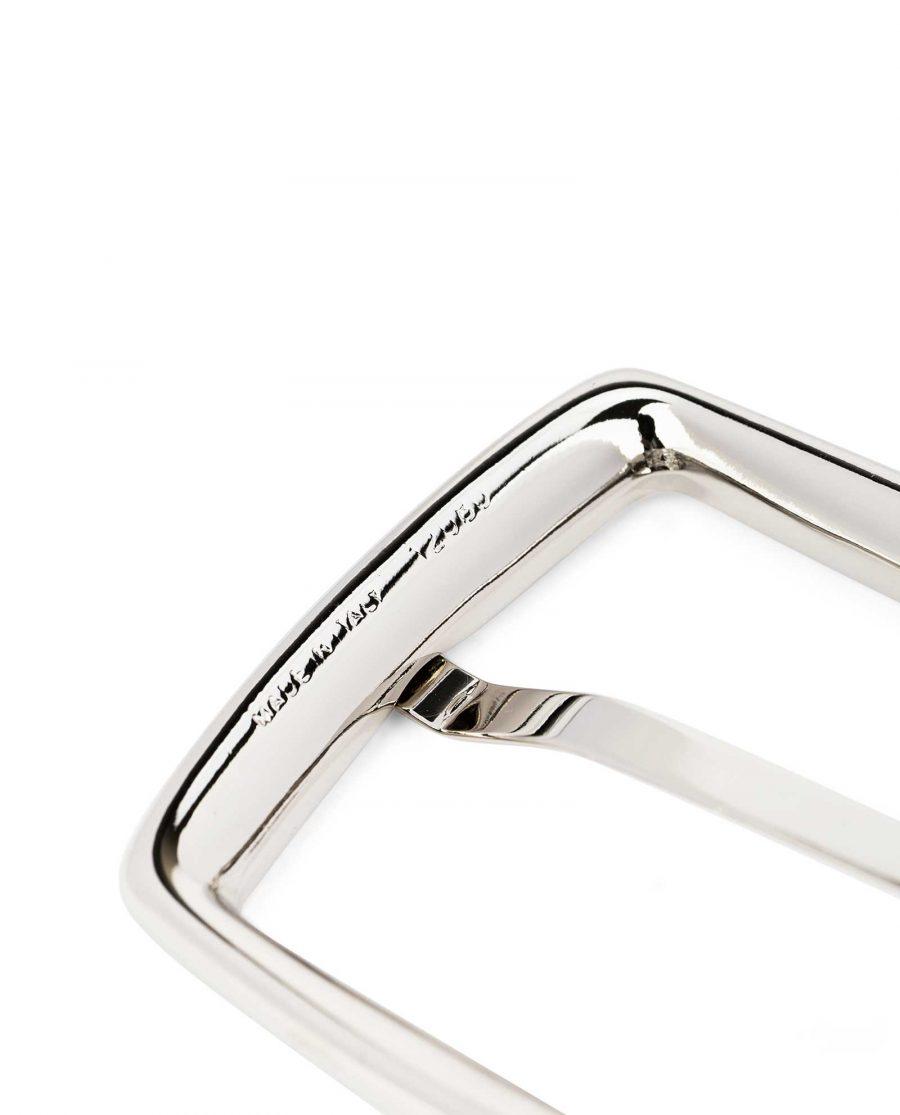 Italian-Reversible-Belt-Buckle-Silver-Nickel-35-mm-Twist-Swivel-Made-in-Italy