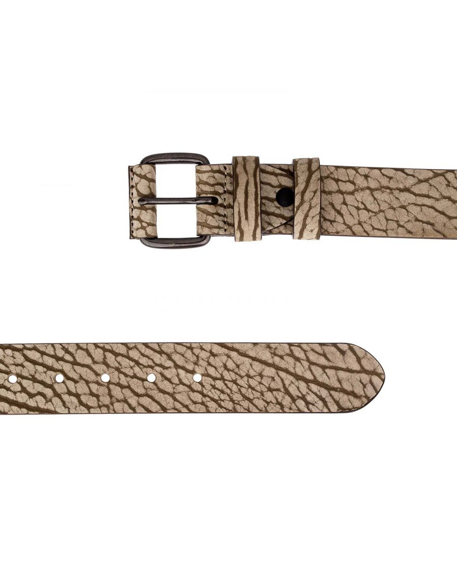 Khaki-Thick-Leather-Belt-Both-ends