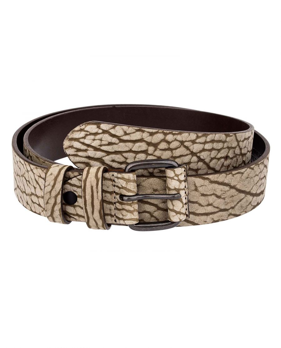 Khaki-Thick-Leather-Belt-First-picture