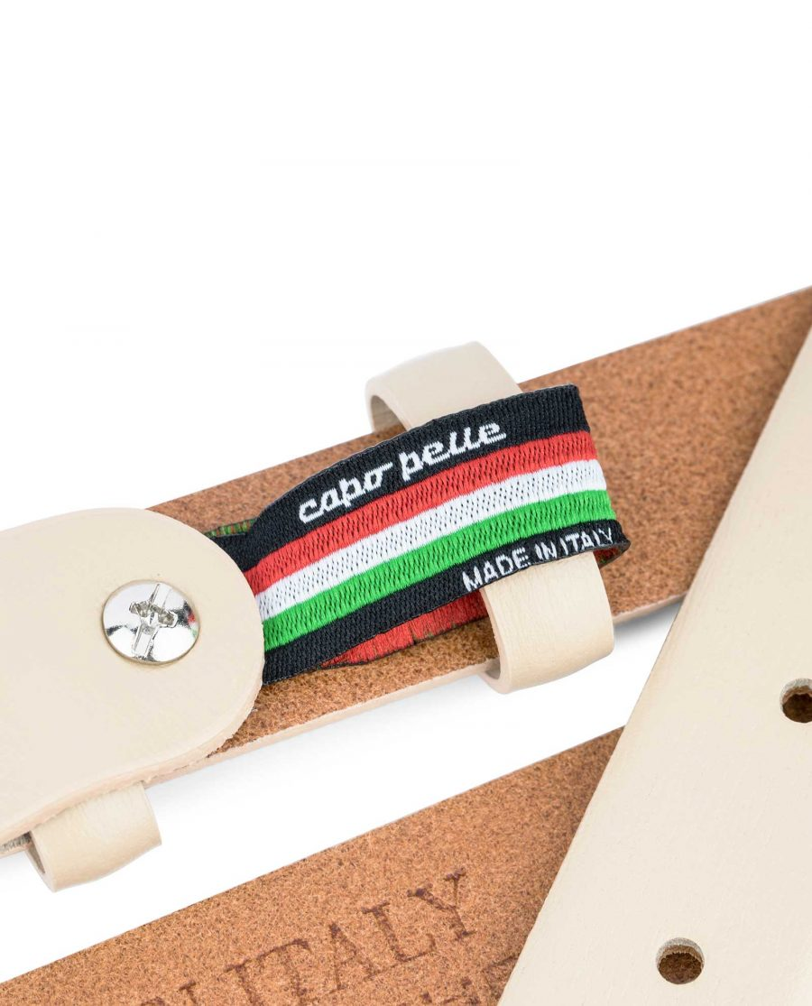 Ladies-1-inch-Belt-Beige-Leather-Loop-holder