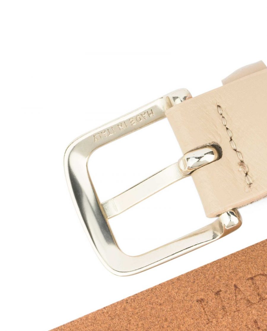 Ladies-1-inch-Belt-Beige-Leather-Made-in-Italy-buckle