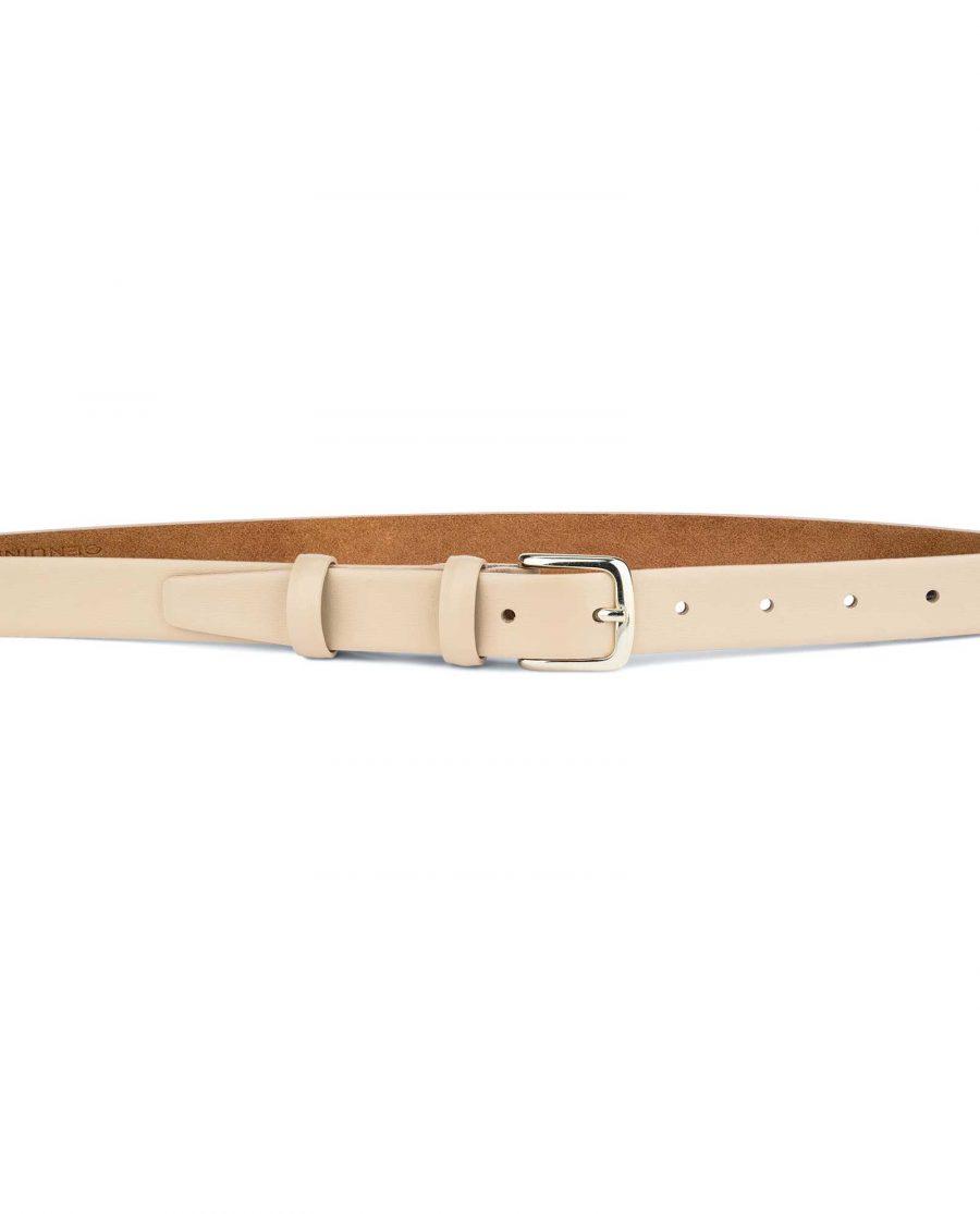 Ladies-1-inch-Belt-Beige-Leather-On-pants