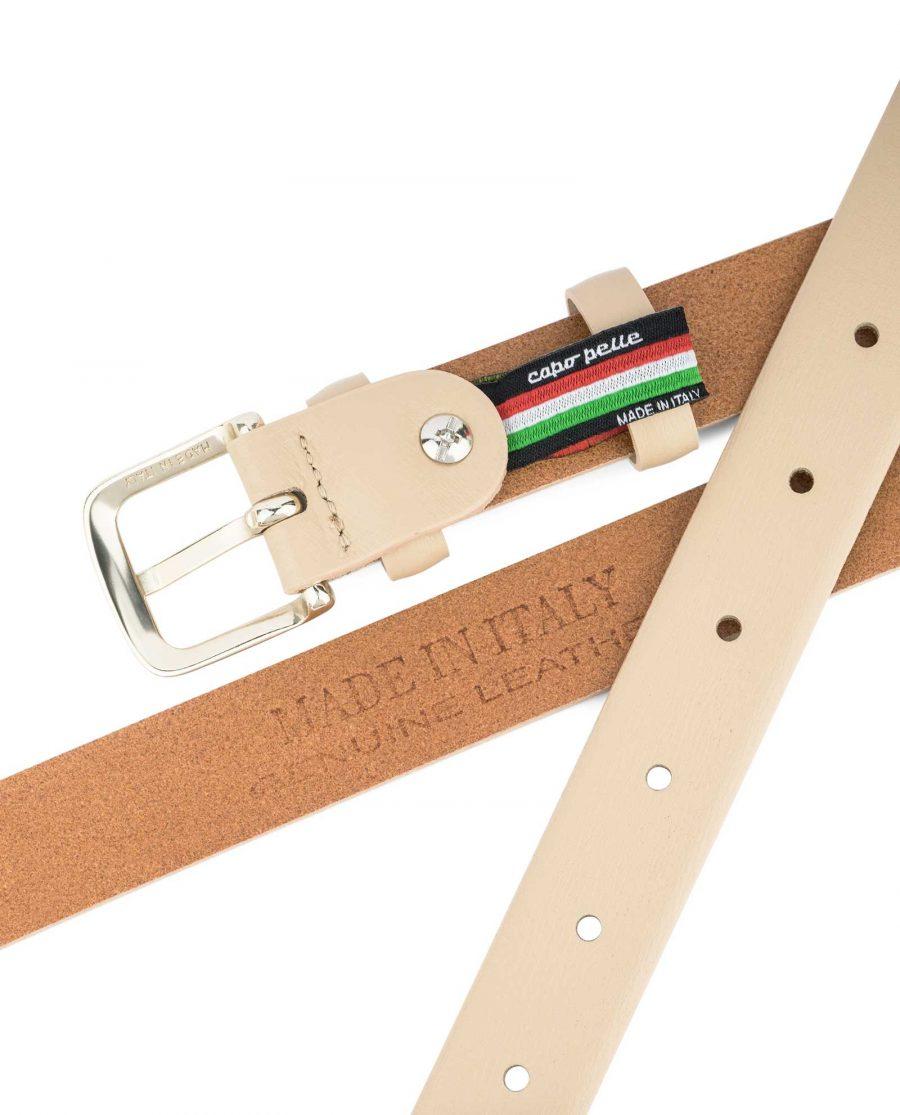 Ladies-1-inch-Belt-Beige-Leather-Reverse-side