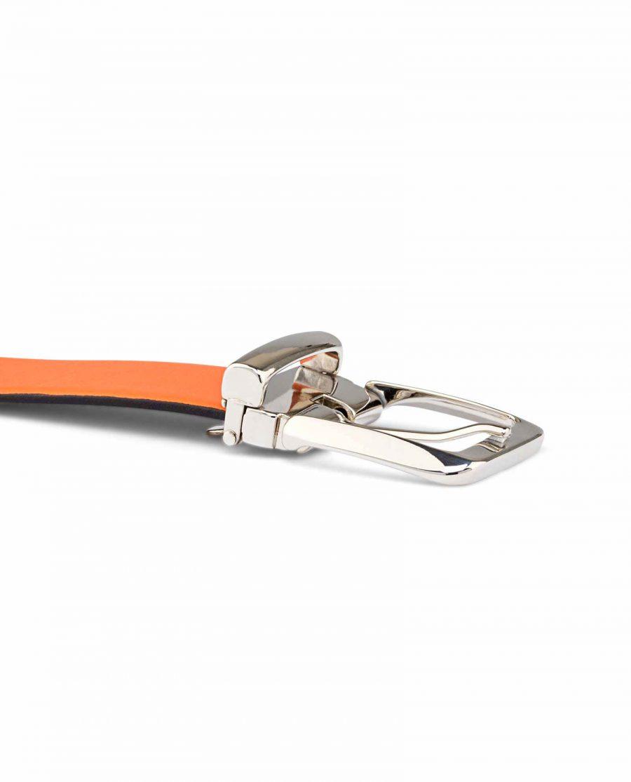 Ladies-Orange-Belt-Italian-buckle-picture