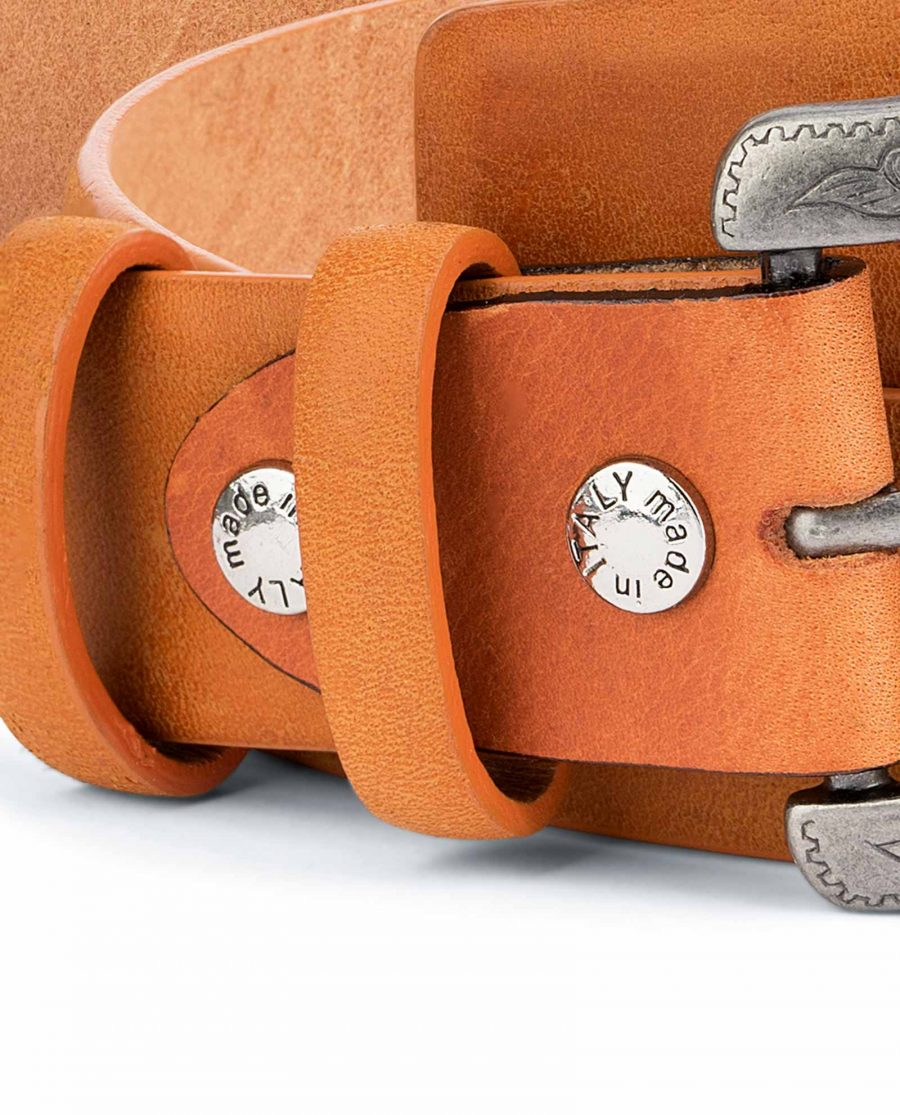 Light-Brown-Western-Belt-Mens-Veg-Tan-Leather-Belt-loops
