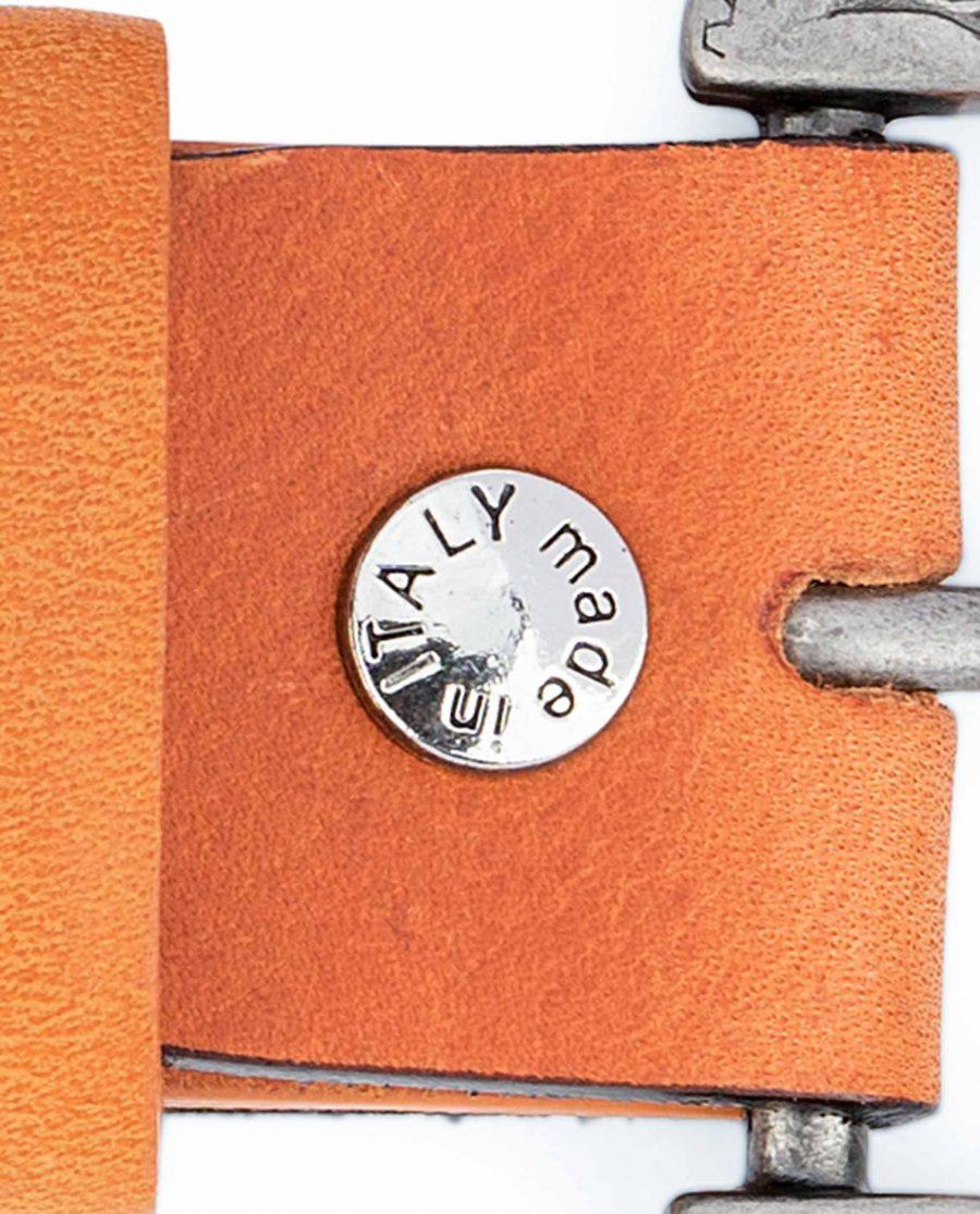 Light-Brown-Western-Belt-Mens-Veg-Tan-Leather-Screw