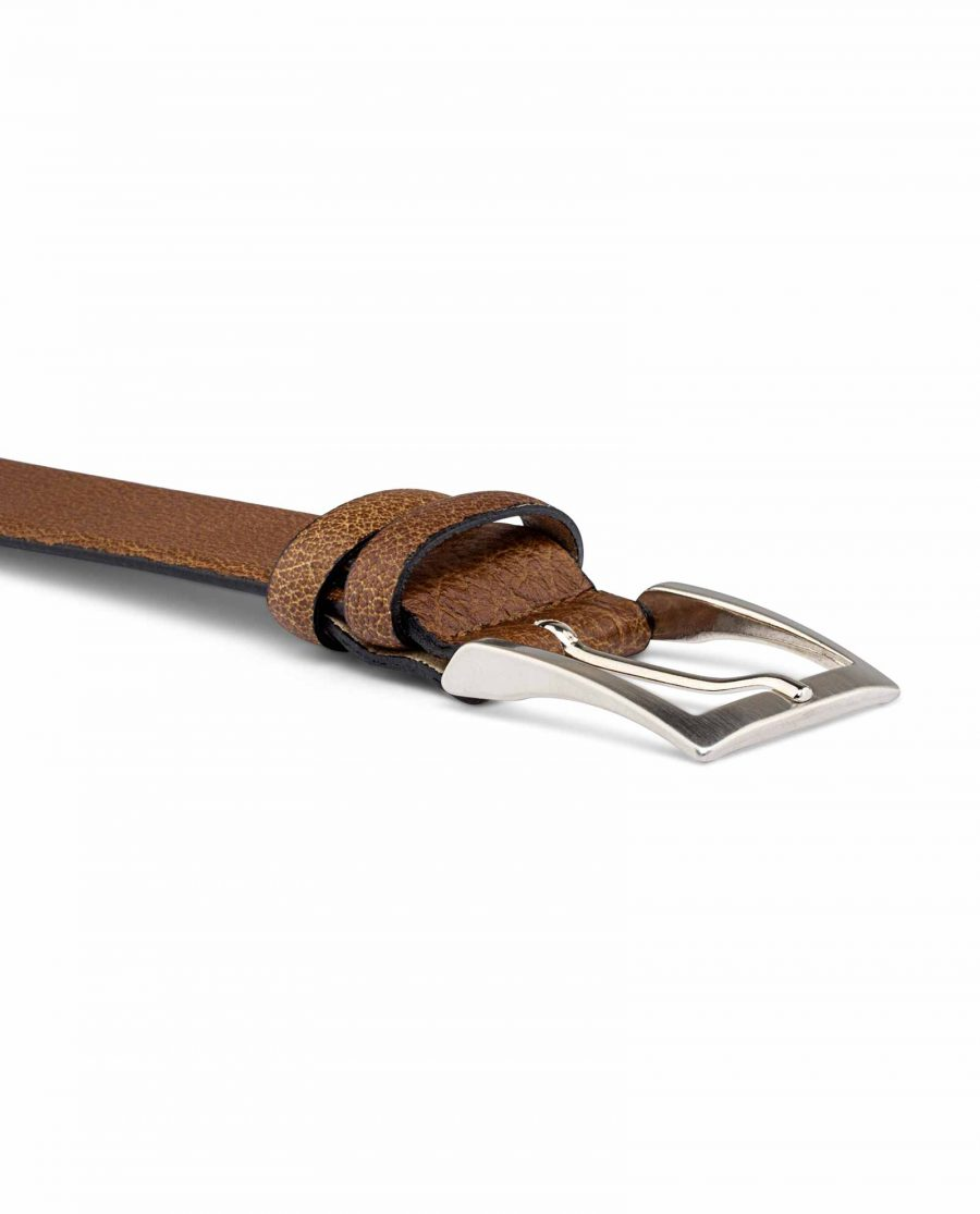 Mens-Beige-Leather-Belt-Buckle-image