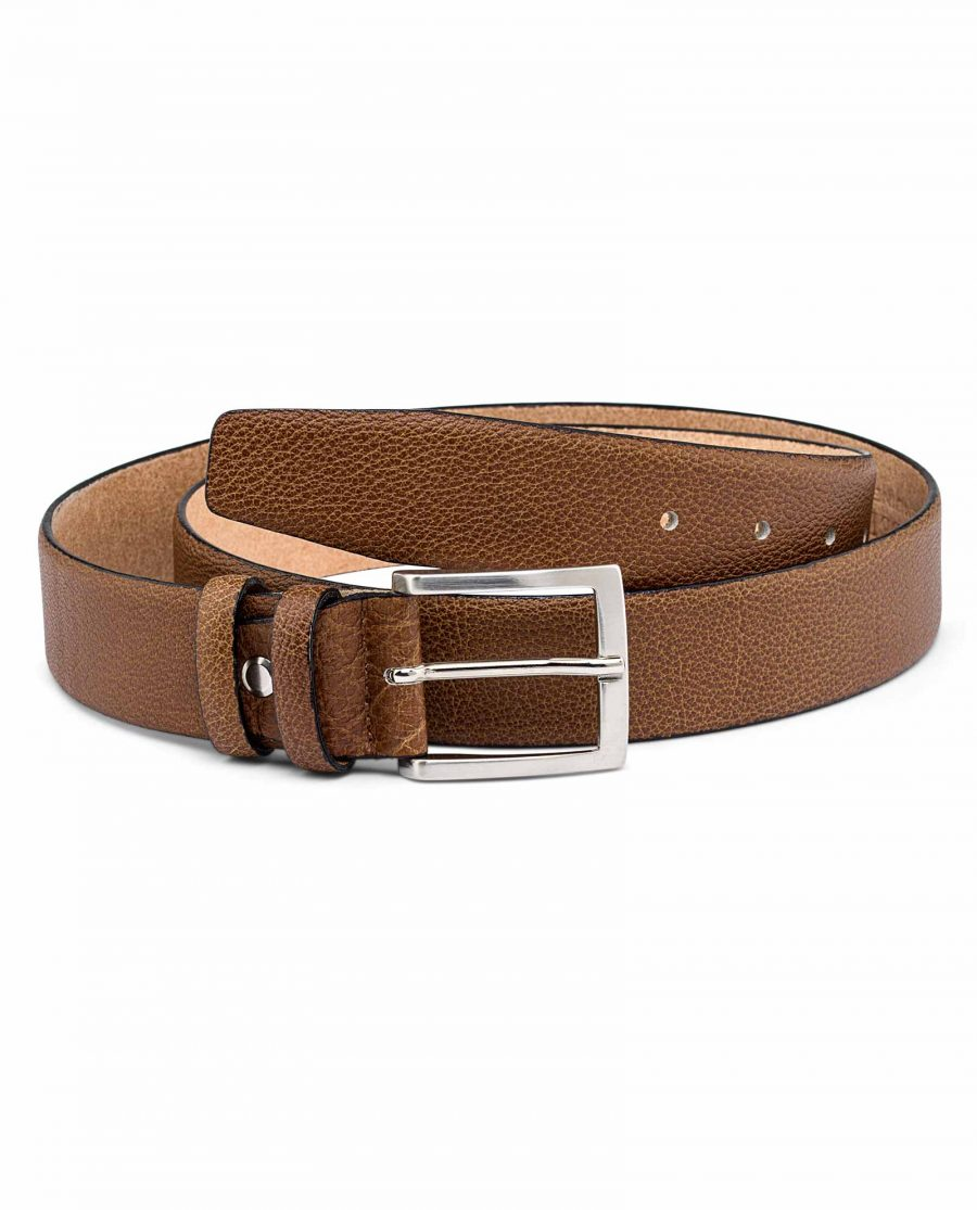 Mens-Beige-Leather-Belt-First-picture