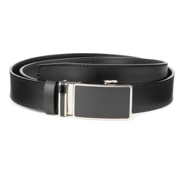 Mens-Black-Leather-Ratchet-Belt-Genuine-Leather-Capo-Pelle-Main-image