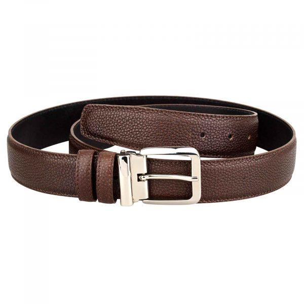 Mens-Brown-Belt-Italian-Buckle-Front-image