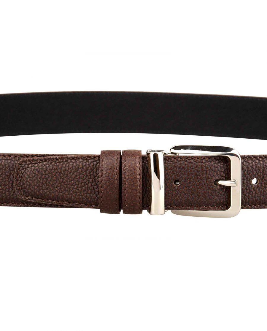Mens-Brown-Belt-Italian-Buckle-On-pants