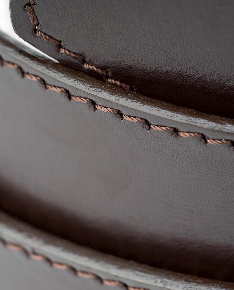 Mens-Brown-Ratchet-Leather-Belt-Rolled-strap-Macro