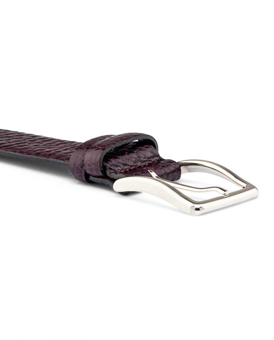 Mens-Burgundy-Cowhide-Belt-Buckle-image