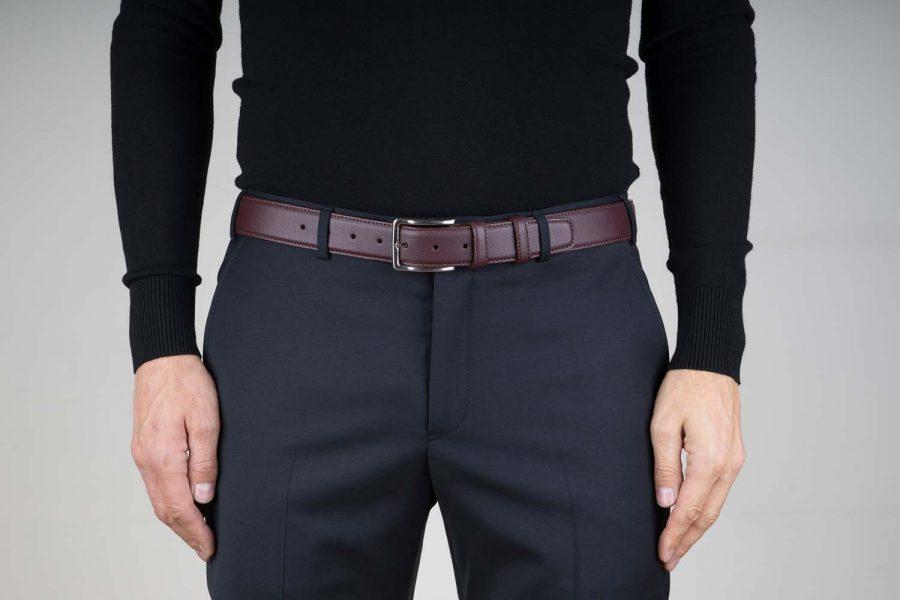 Mens-Burgundy-Leather-Belt-Live-on-Pants