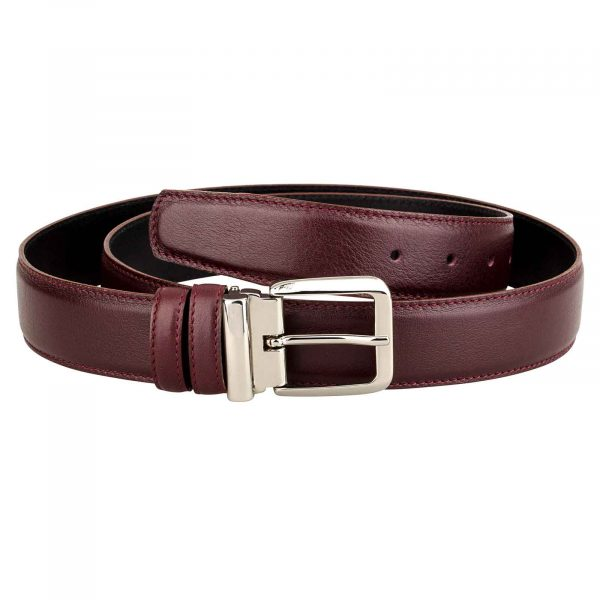 Mens-Burgundy-Leather-Belt-Main-picture