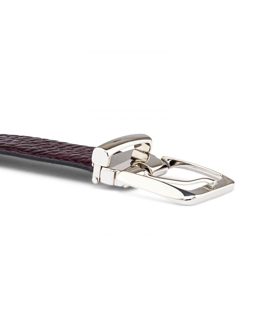 Mens-Cordovan-Leather-Belt-Buckle-image