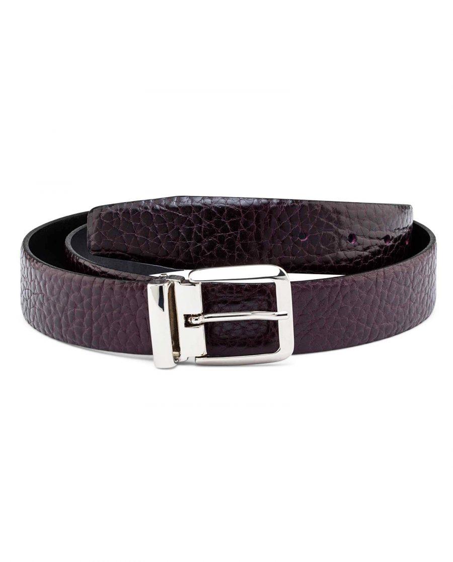 Mens-Cordovan-Leather-Belt-Italian-Buckle