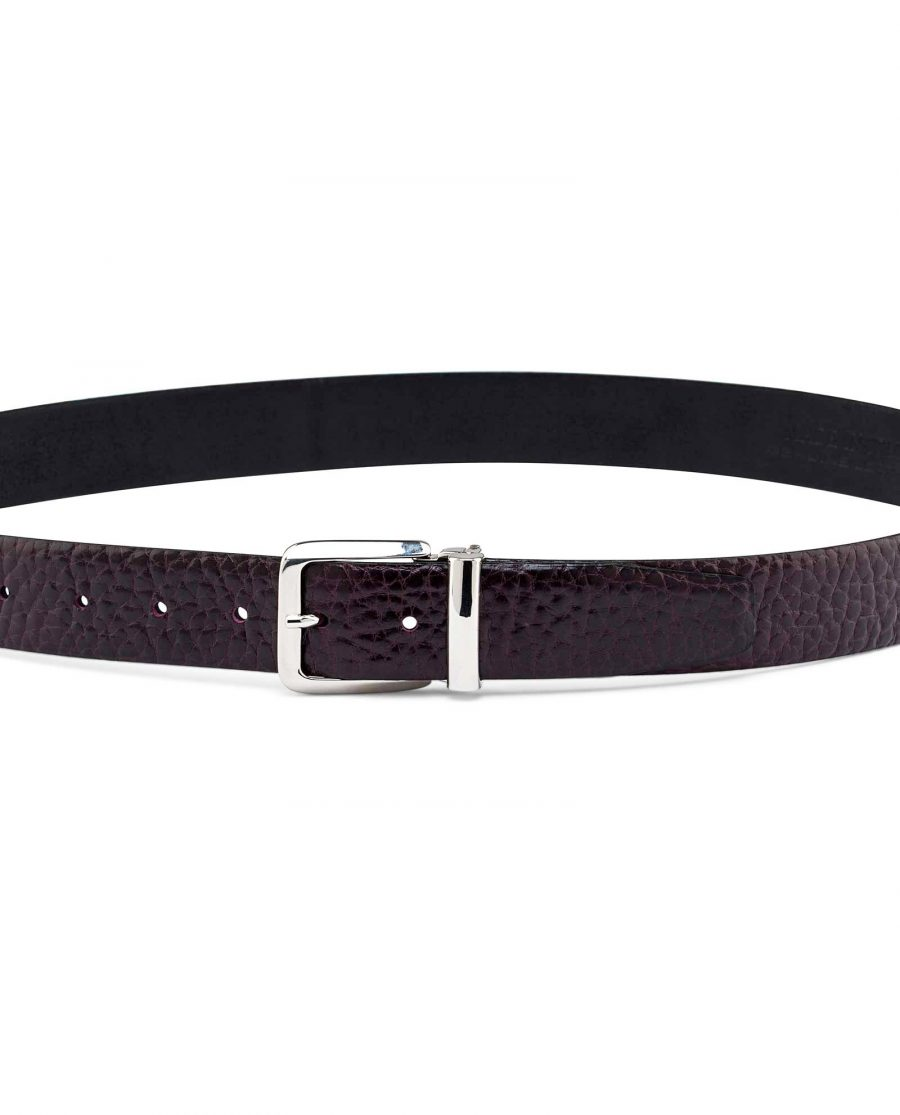 Mens-Cordovan-Leather-Belt-On-jeans