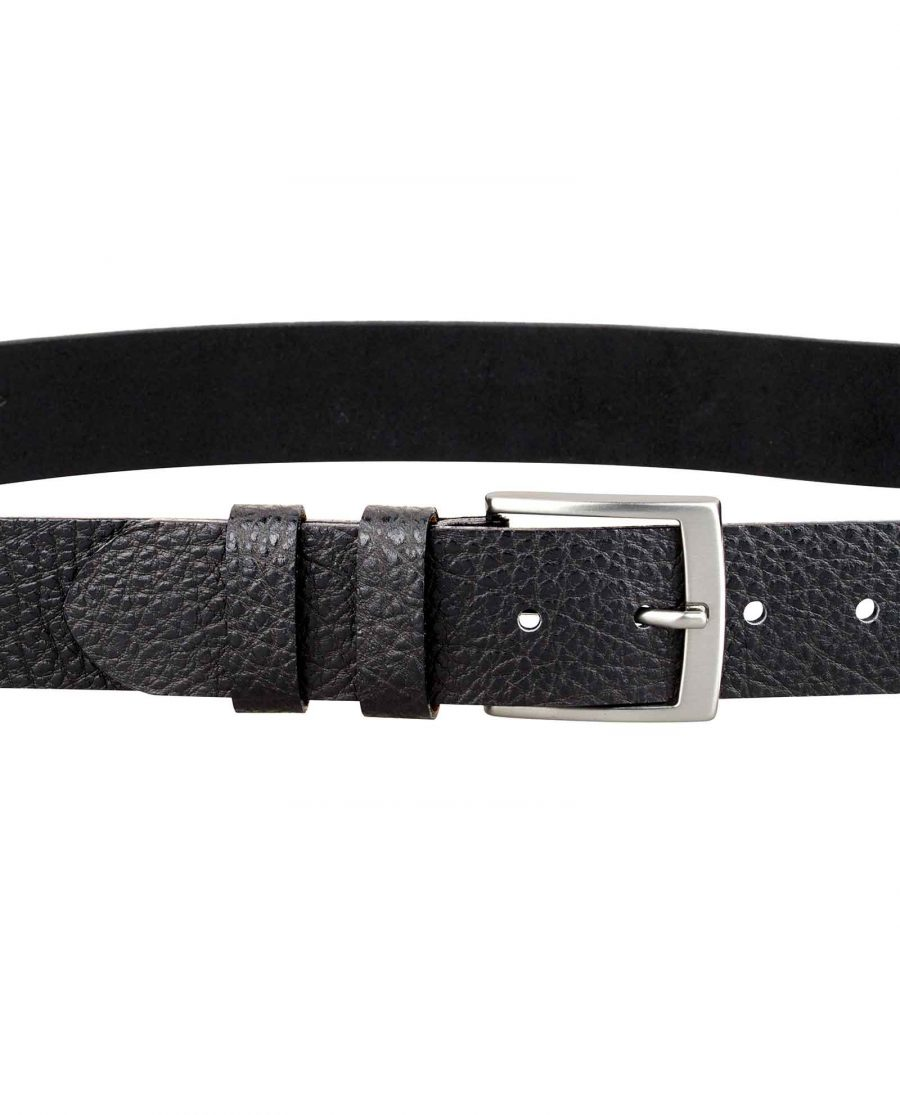 Mens-Cowhide-Leather-Belt-On-jeans