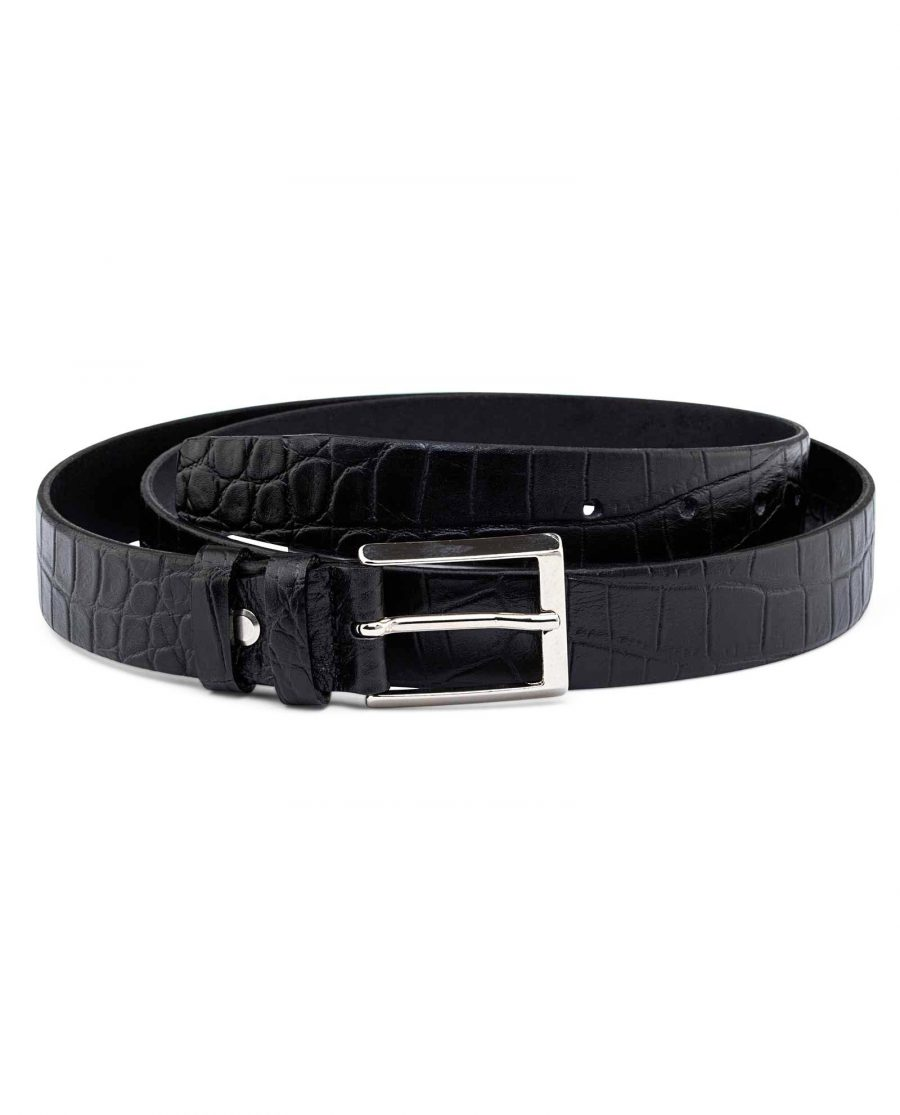Mens-Crocodile-Embossed-Belt-30-mm-First-picture
