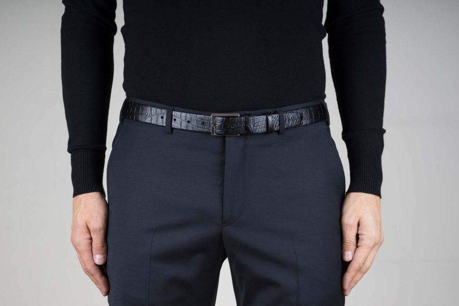 Mens-Crocodile-Embossed-Belt-30-mm-Live-on-Pants