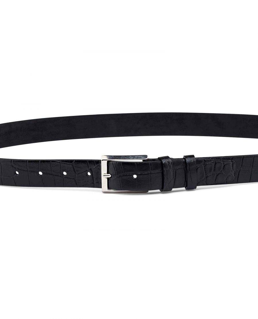 Mens-Crocodile-Embossed-Belt-30-mm-On-trousers