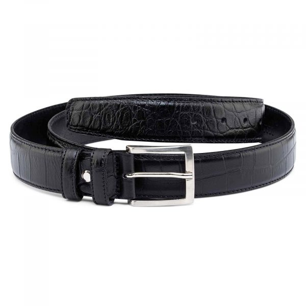 Mens-Crocodile-Embossed-Belt-35-mm-Main-picture