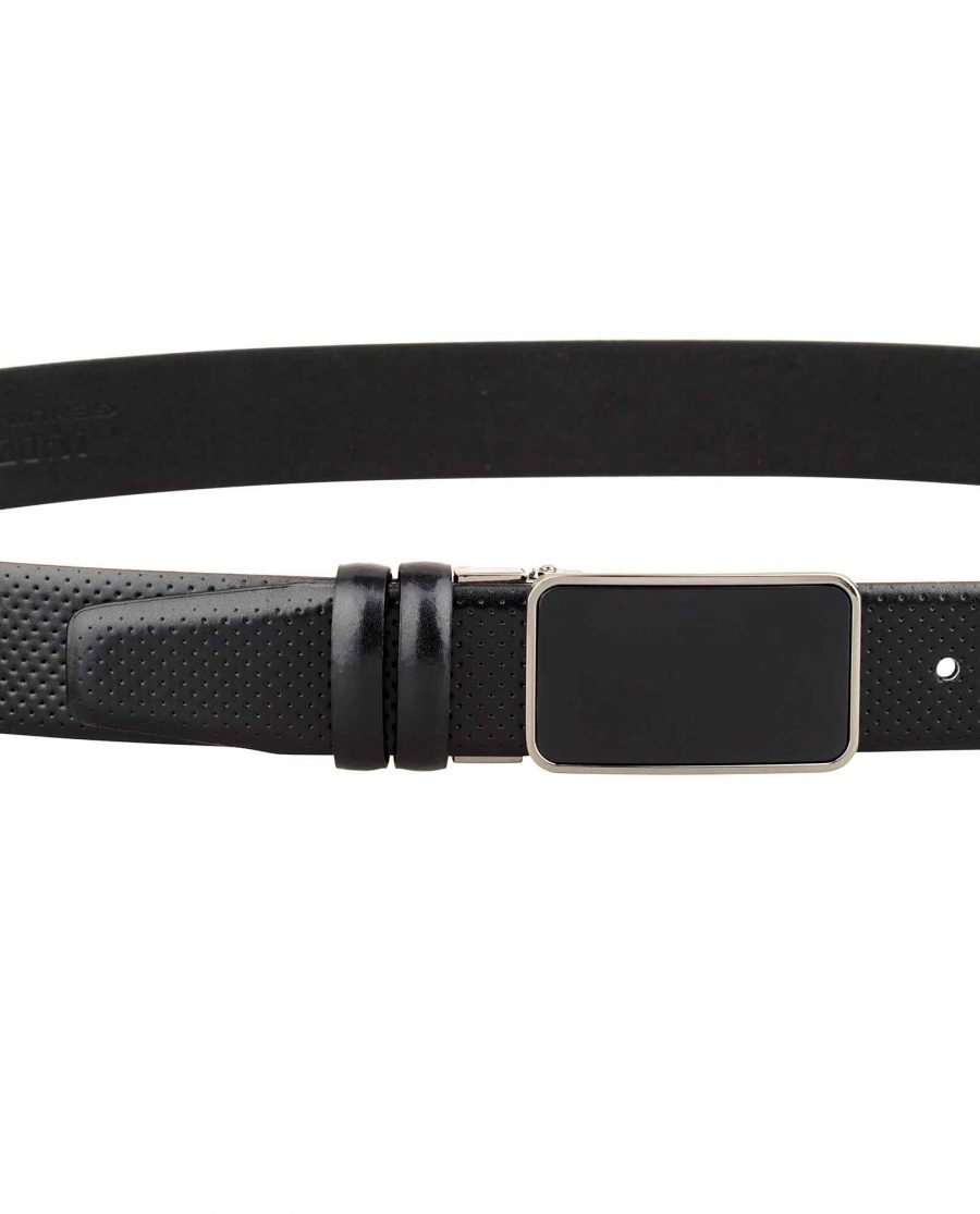 Mens-Golf-Belt-Perforated-Leather-on-pants