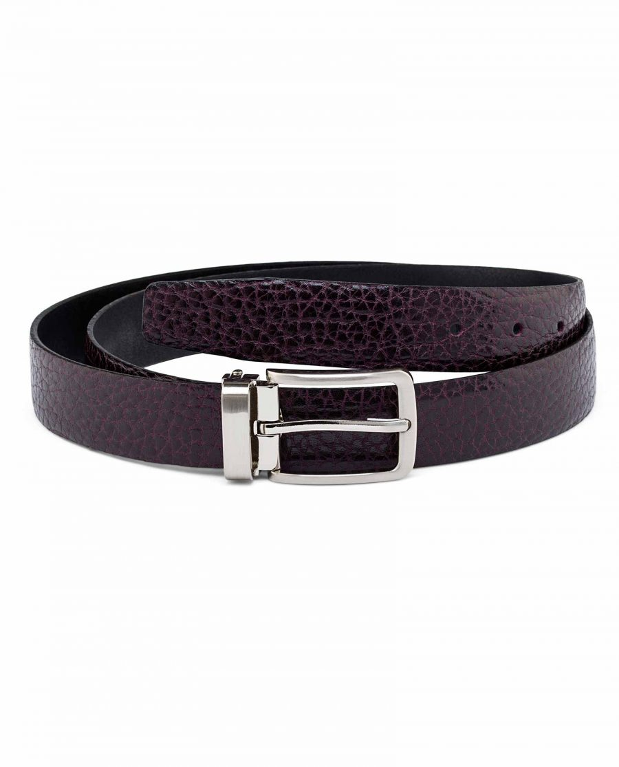 Mens-Maroon-Leather-Belt-Main-image