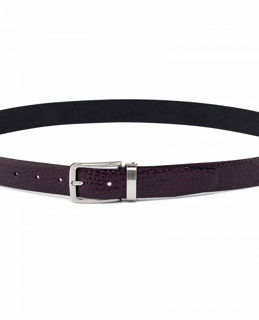 Mens-Maroon-Leather-Belt-On-pants-picture
