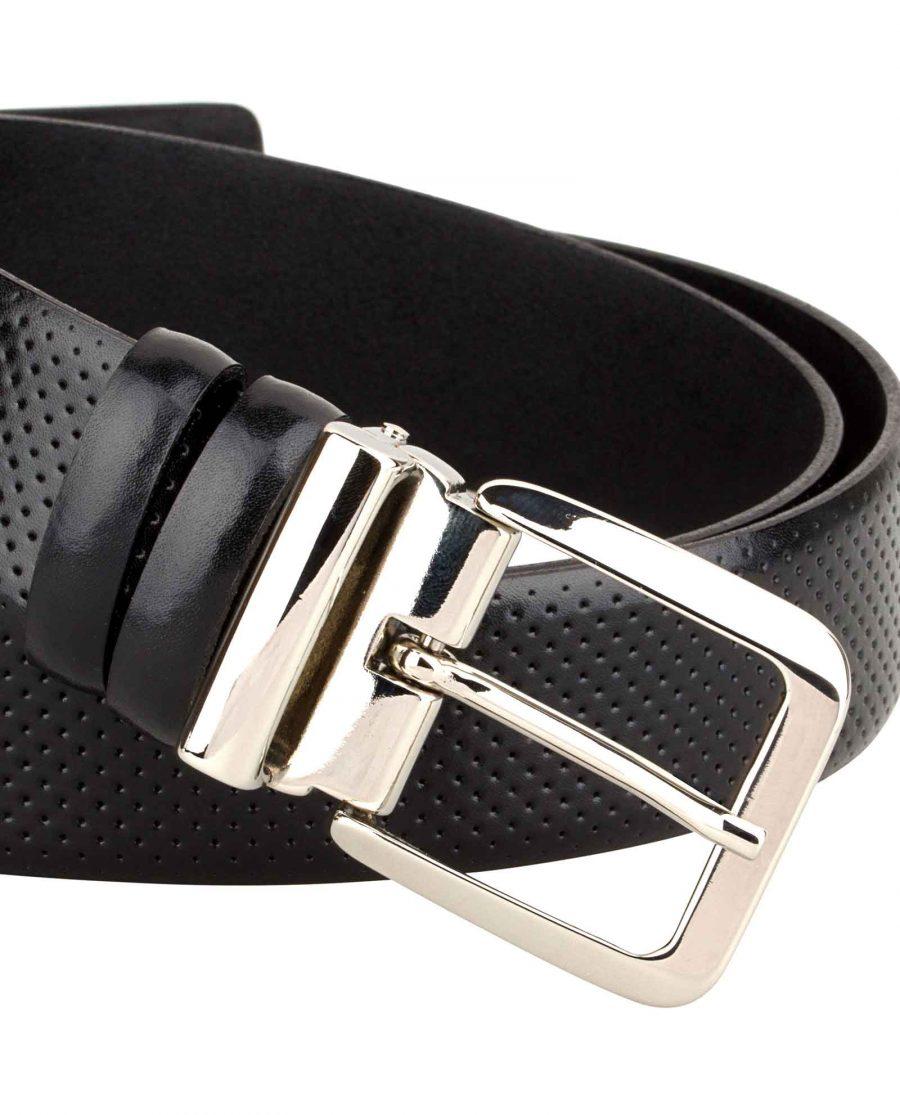 Mens-Perforated-Belt-Italian-Buckle-Close