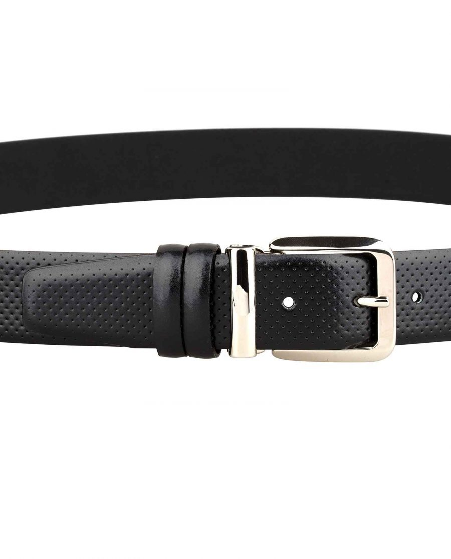 Mens-Perforated-Belt-Italian-Buckle-On-trousers