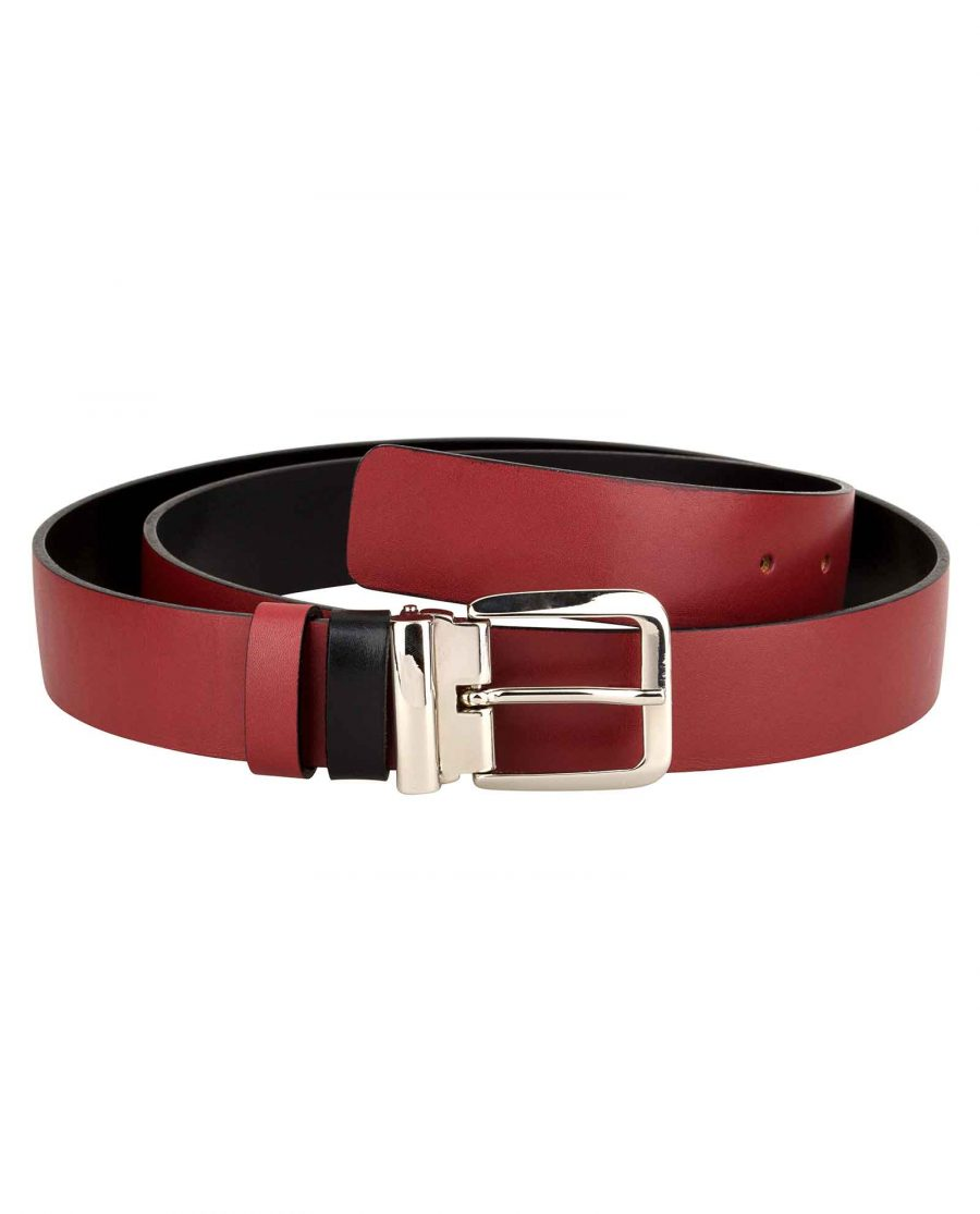Mens-Red-Belt-Italian-Buckle-First-image