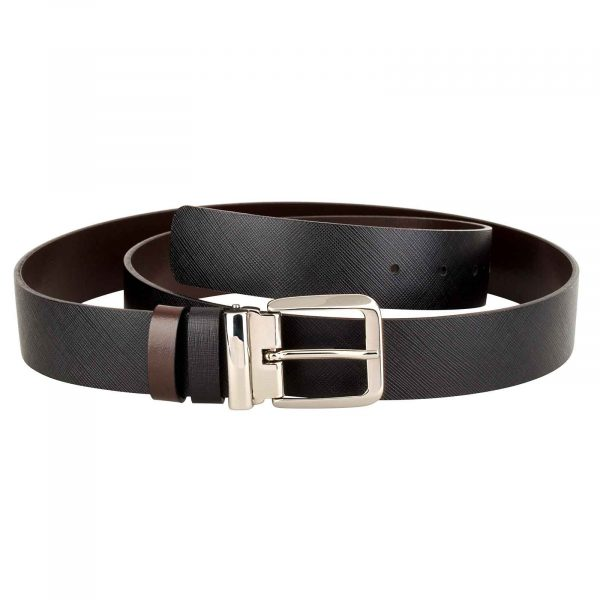 Mens-Saffiano-Belt-Italian-Buckle-Front-picture