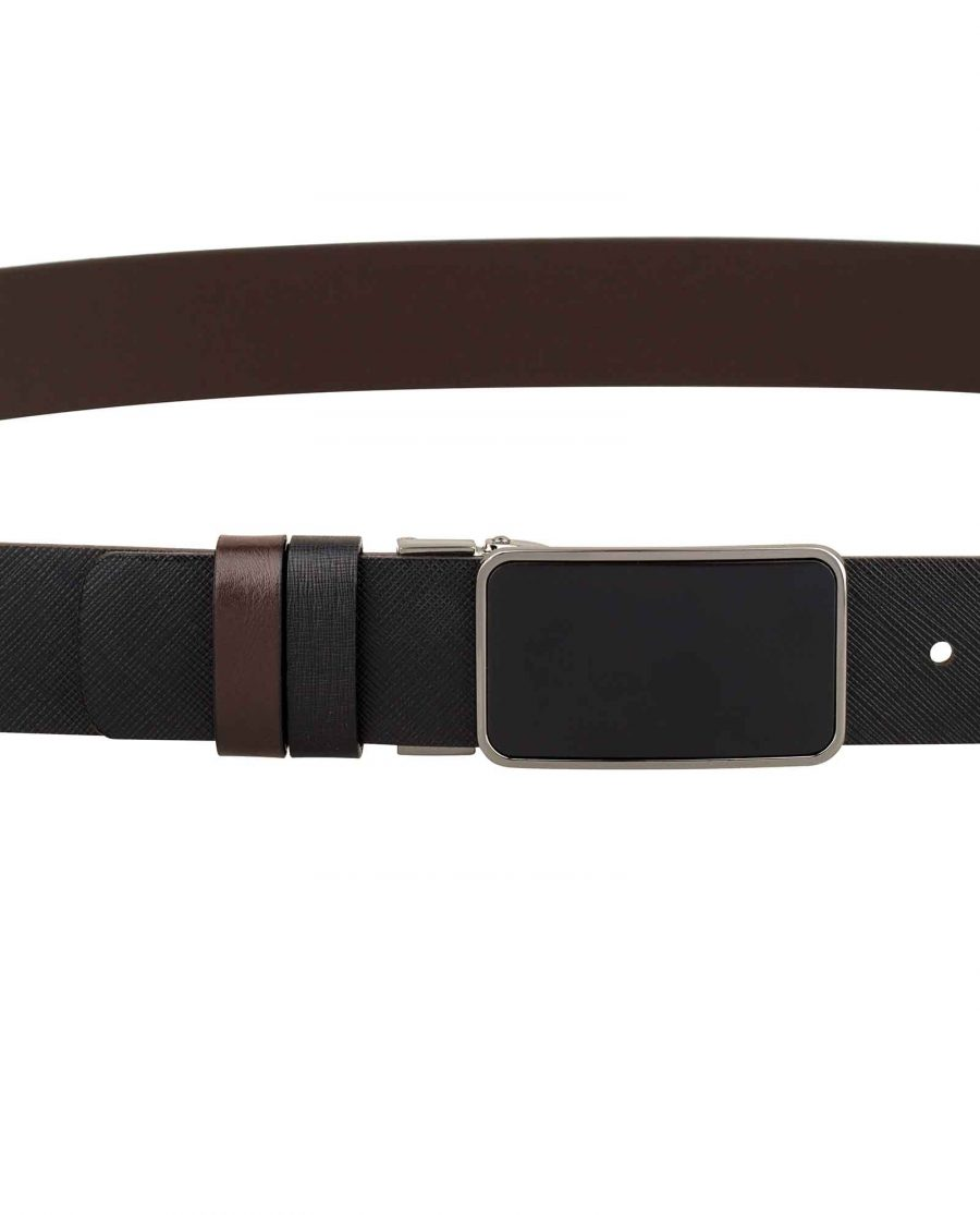 Mens-Saffiano-Leather-Belt-On-pants