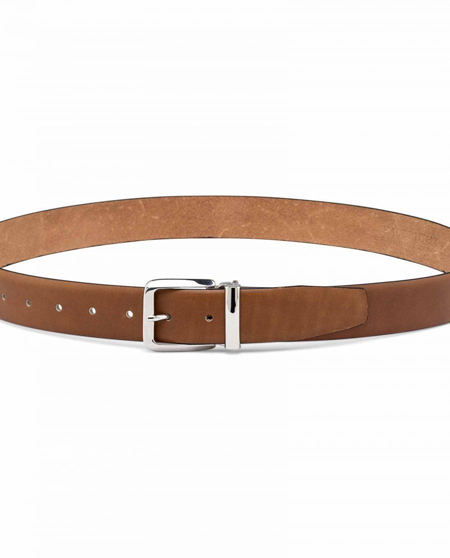 Mens-Tan-Dress-Belt-On-trousers