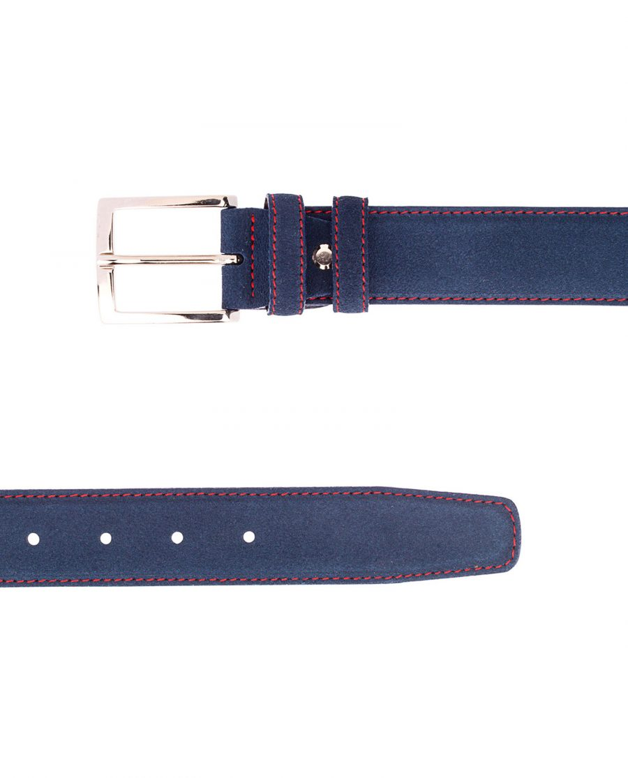 Navy-Blue-Belt-With-Red-Thread-Both-Ends