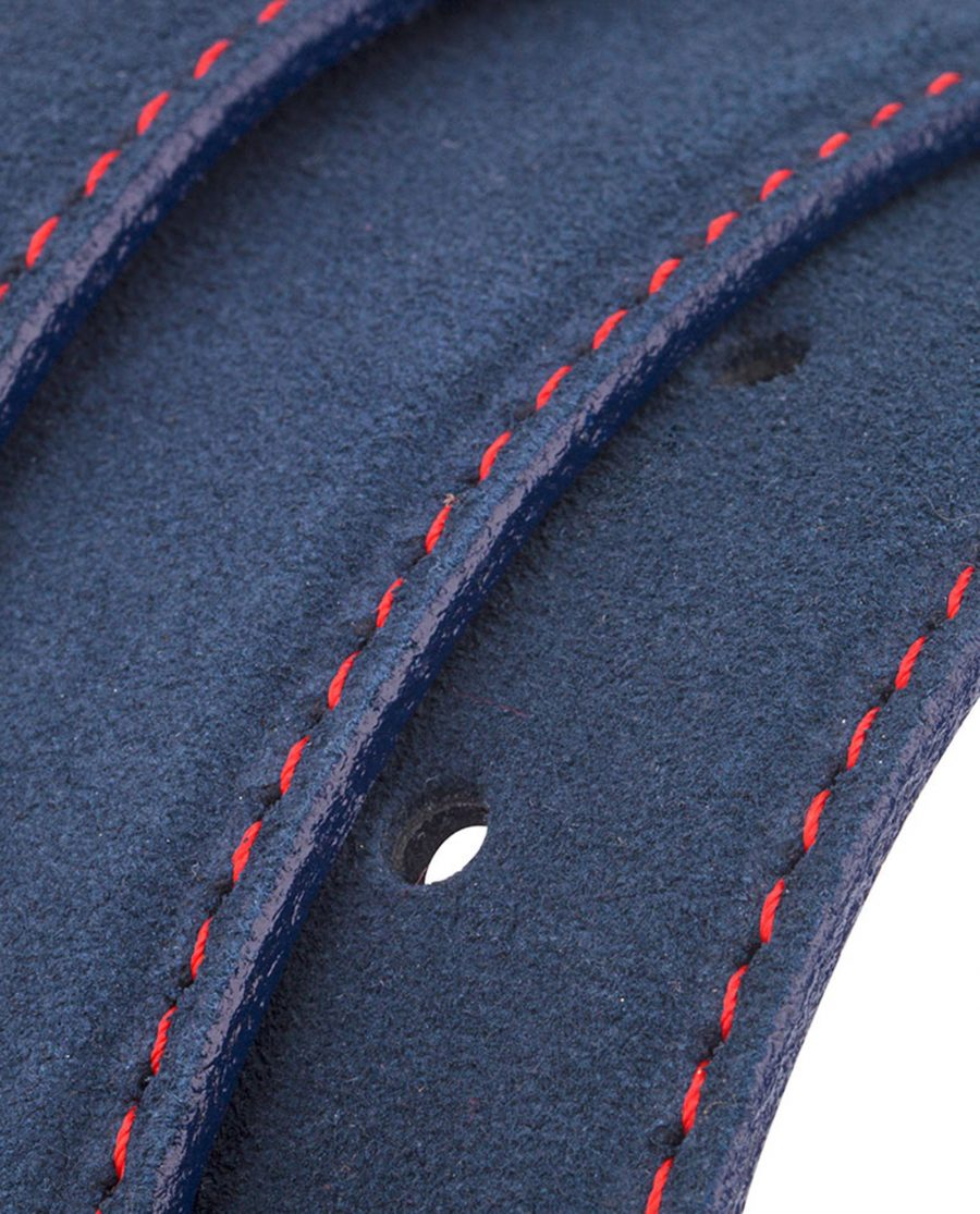 Navy-Blue-Belt-With-Red-Thread-Rolled