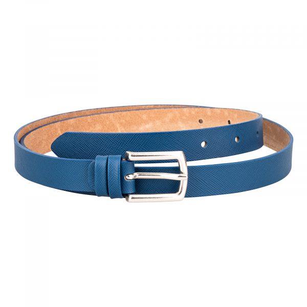 Navy-Blue-Saffiano-Skinny-Belt-Front-Image