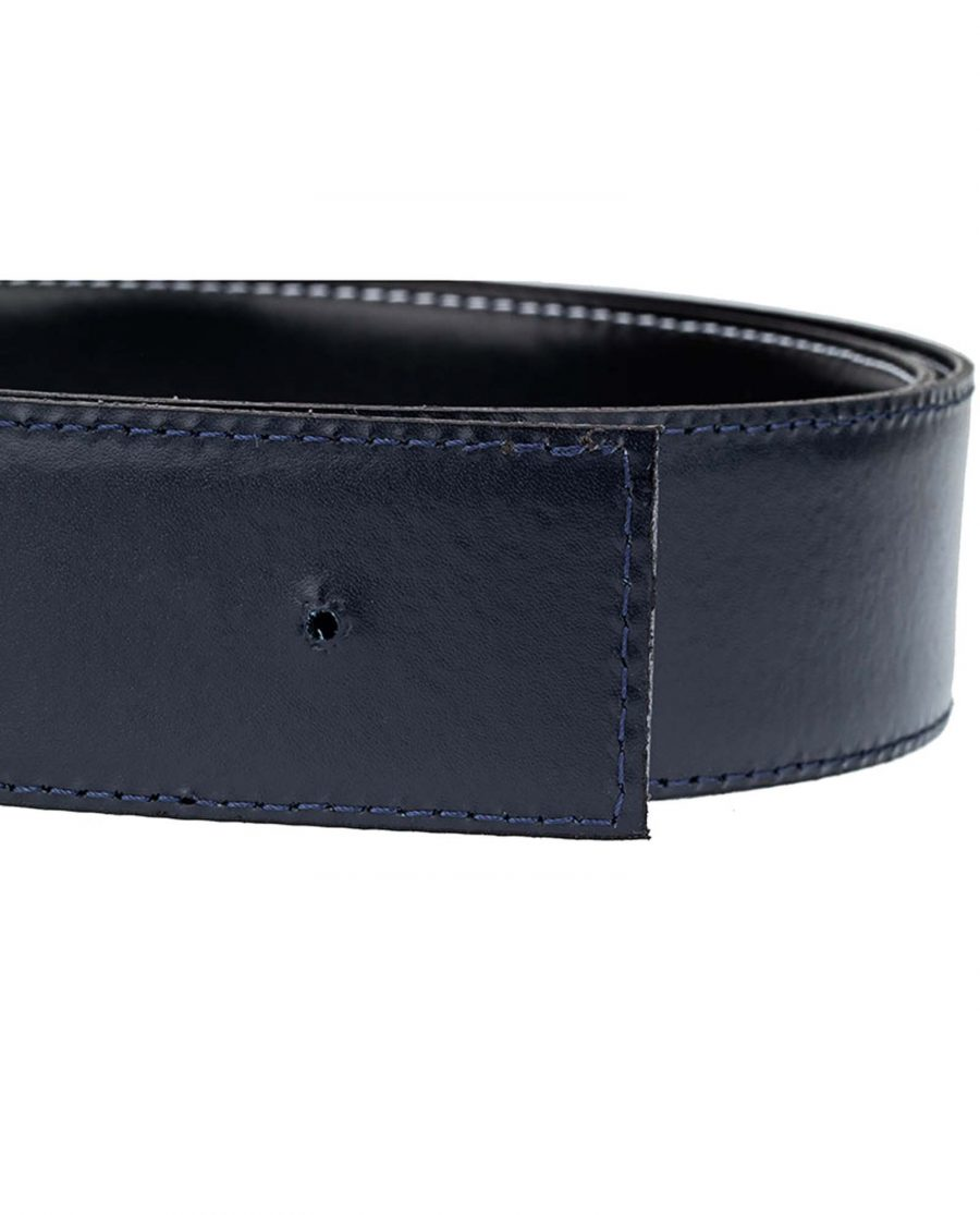 Navy-Reversible-Thick-Belt-Strap-Buckle-Hole