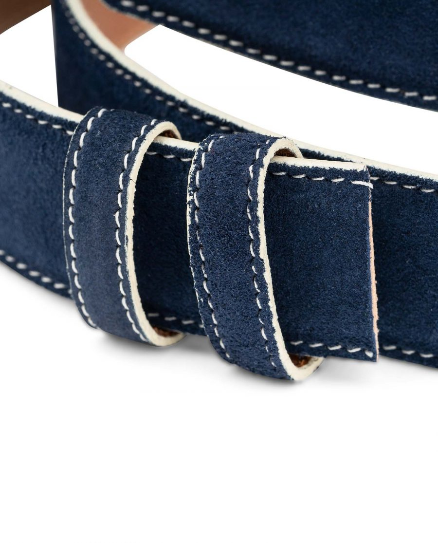Navy-Suede-1-3-8-Belt-Strap-with-White-Edges-Italian-leather-by-Capo-Pelle-Belt-holders