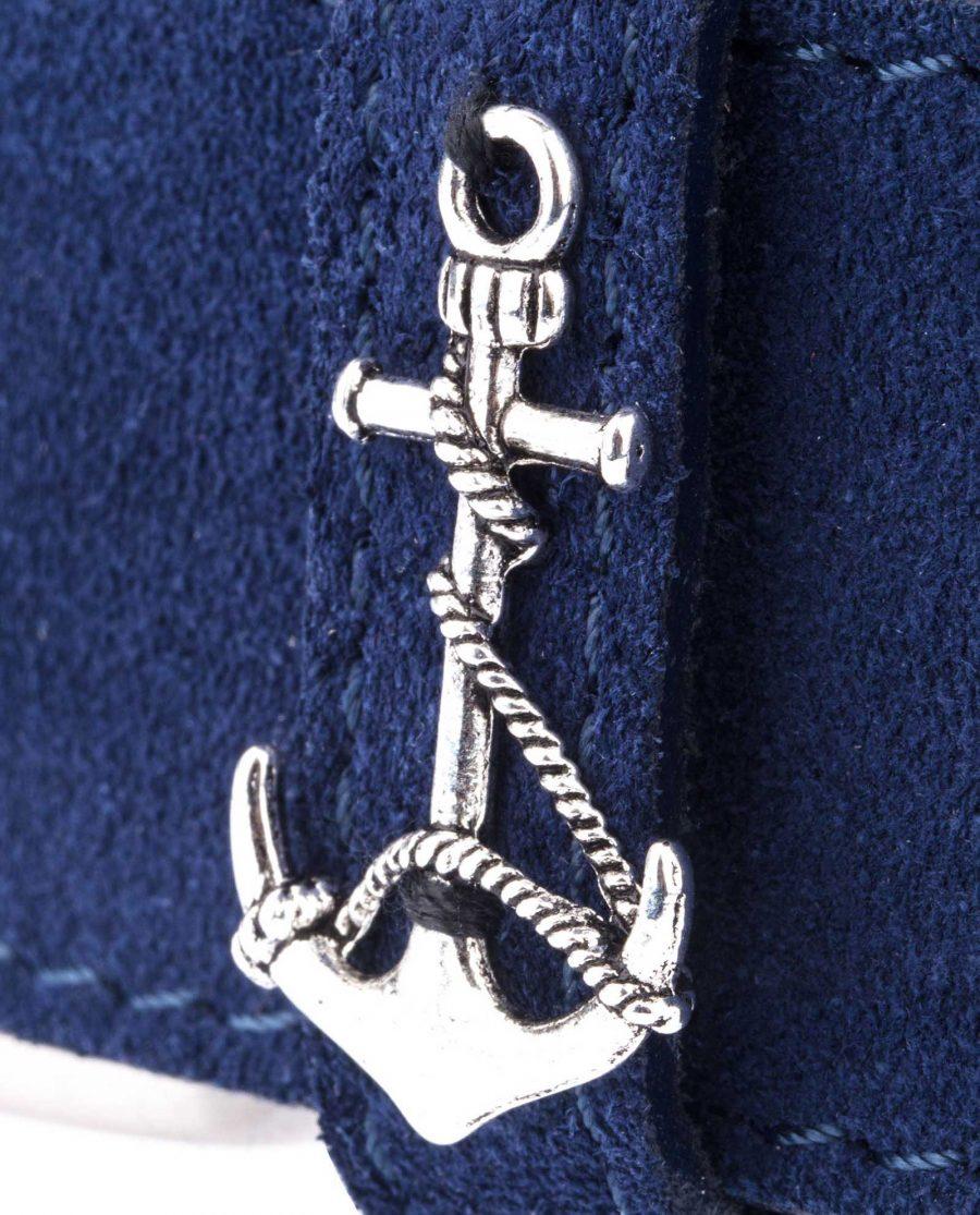 Navy-Suede-Belt-Anchor-Yacht-Marine-Anchor