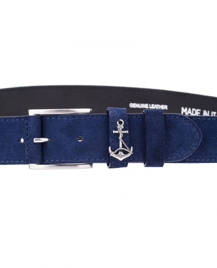 Navy-Suede-Belt-Anchor-Yacht-Marine-Zoom