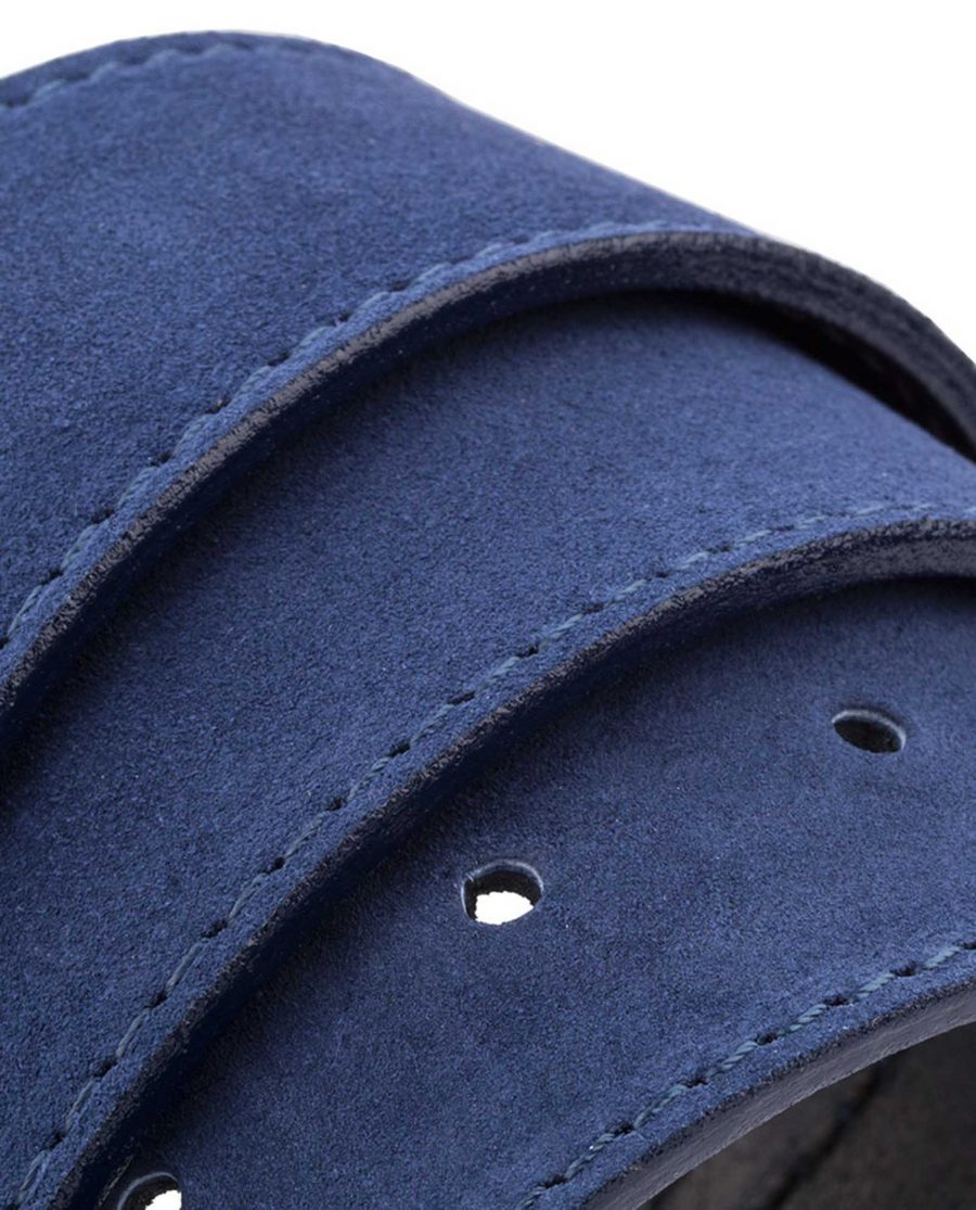 Navy-Suede-Classic-Belt-Rolled-Version