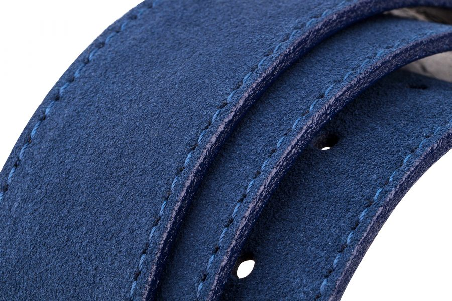 Navy-Suede-Leather-Strap-Rolled