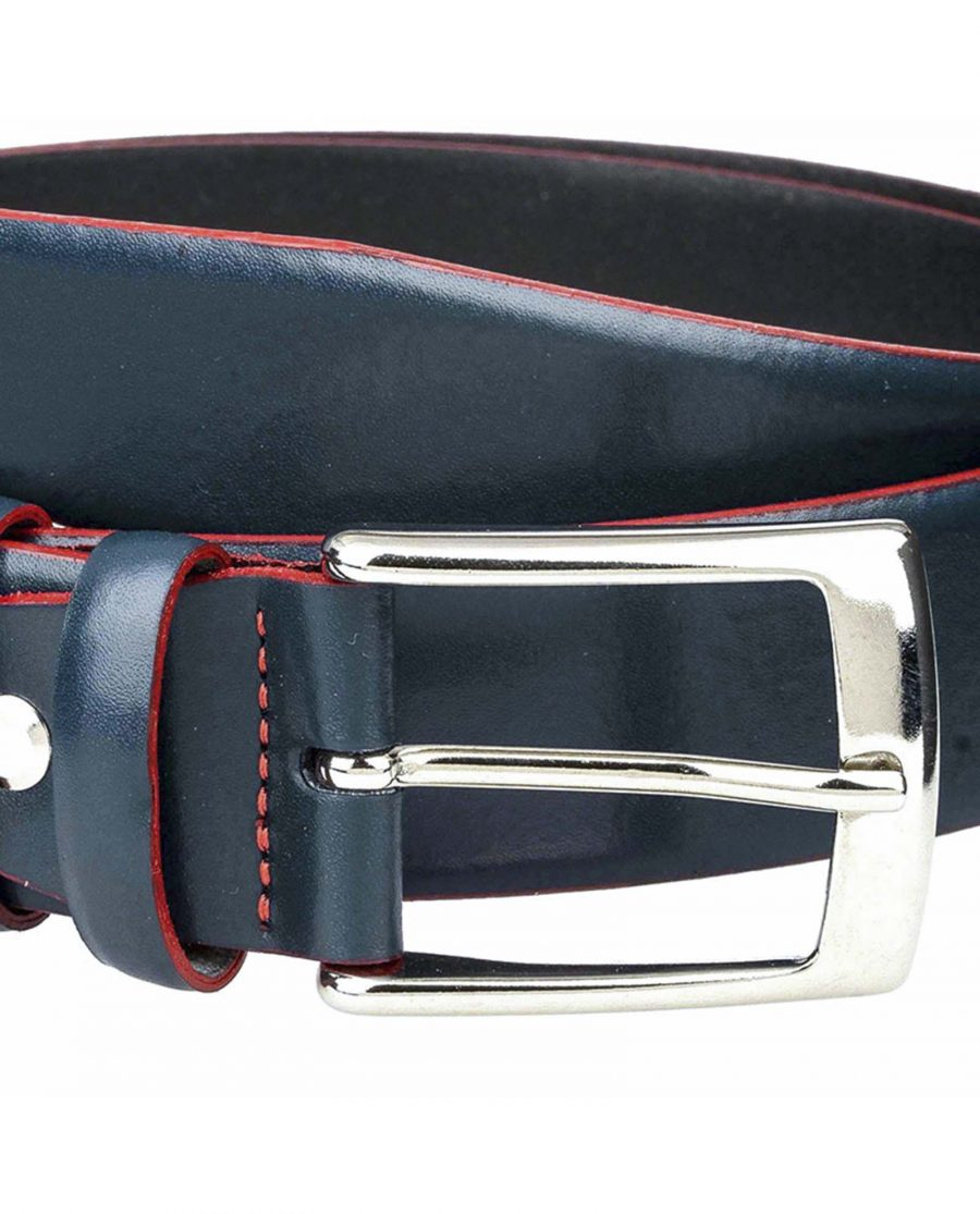 Navy-belt-with-red-edge-buckle