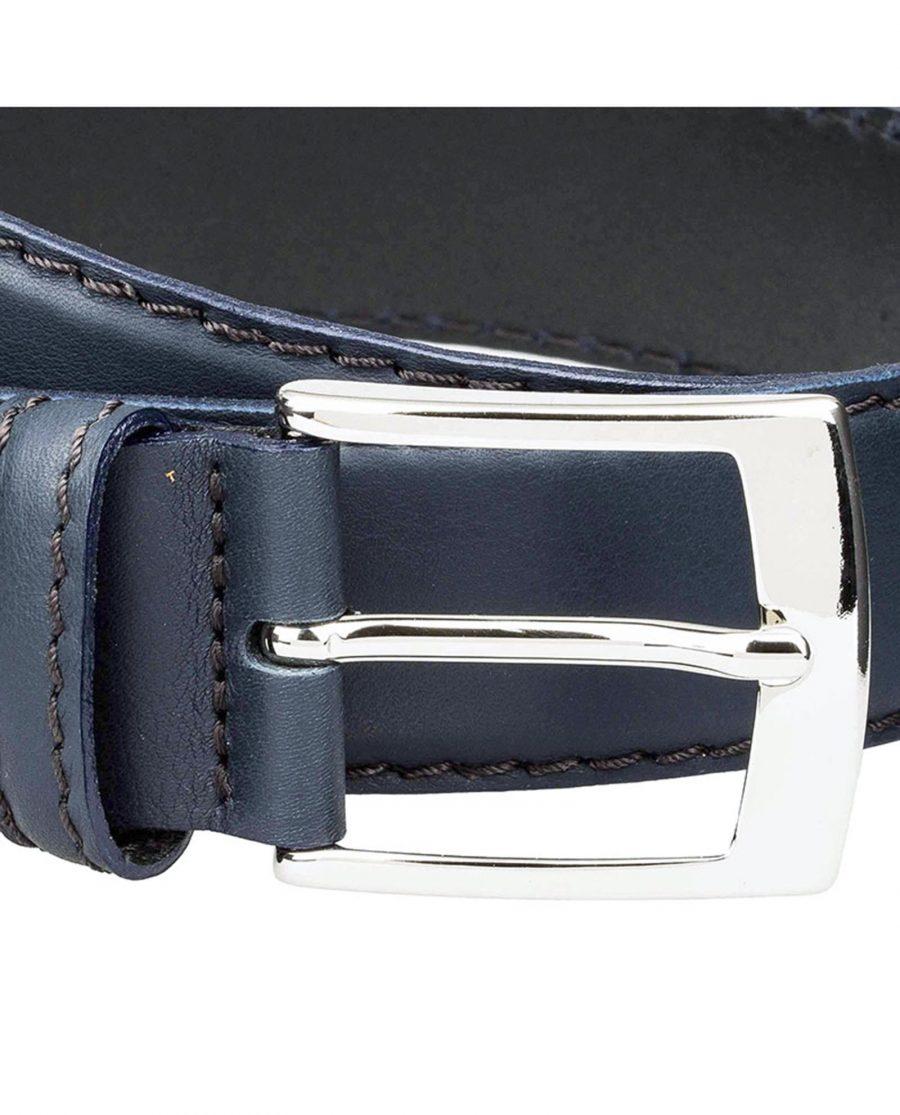 Navy-jeans-belt-soft-buckle